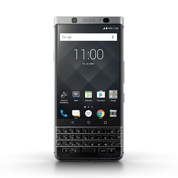 BlackBerry KEYone 32 GB, Stříbrná (QWERTZ)
