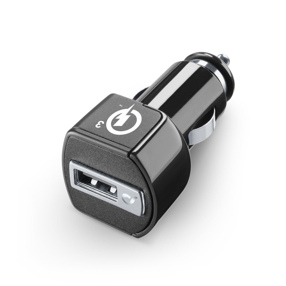 Nabíječka do automobilu CellularLine USB Charger Ultra s Quick Charge™ 3.0 (CBRUSBQUALCOMMK)