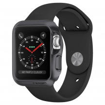 Odolný obal Spigen Slim Armor pro Apple Watch 42mm, Série 1/2/3 (059CS22563), Space Grey