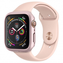 Ochranný obal Spigen Thin Fit pro Apple Watch Series 4 44mm, Rose Gold