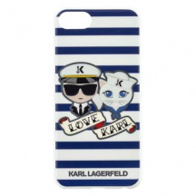 Pouzdro Karl Lagerfeld Sailor Stripes pro iPhone 7/8