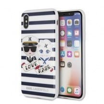 Pouzdro Karl Lagerfeld Sailor Stripes pro iPhone X