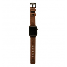 Kožený řemínek UAG Leather Strap pro Apple Watch Series 38/40 mm, Hnědá