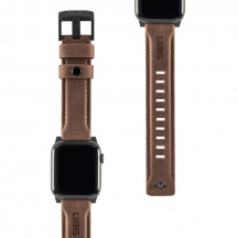 Kožený řemínek UAG Leather Strap pro Apple Watch Series 42/44 mm, Hnědá