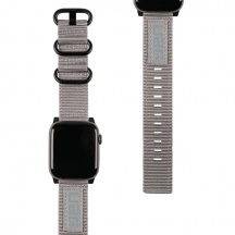 Nylonový řemínek UAG Nato Strap pro Apple Watch Series 42/44 mm, Šedá