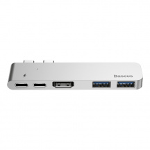 Baseus Thunderbolt Hub pro Macbook Pro, 2x USB-C, HDMI, USB 2.0, Space Grey