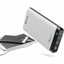 Powerbanka CellularLine PowerUp USB-C, 20 000 mAh, Bílá