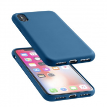 Silikonový kryt CellularLine Sensation pro Apple iPhone X/XS, Modrá