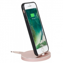 StilGut® Dokovací stanice AirDock Oval pro Apple iPhone, Rose Gold