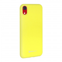 Stilgut® kožený kryt Case with Leather pro Apple iPhone XR, Žlutá