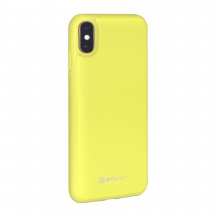 Stilgut® kožený kryt Case with Leather pro Apple iPhone XS Max, Žlutá