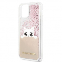 Pouzdro Karl Lagerfeld Glitter Peek and Boo pro Apple iPhone 11 Pro Max, Čiré