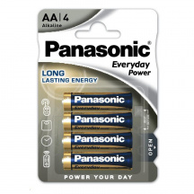 Alkalické baterie Panasonic Everyday Power AA, LR6EPS/4BP, 4 ks